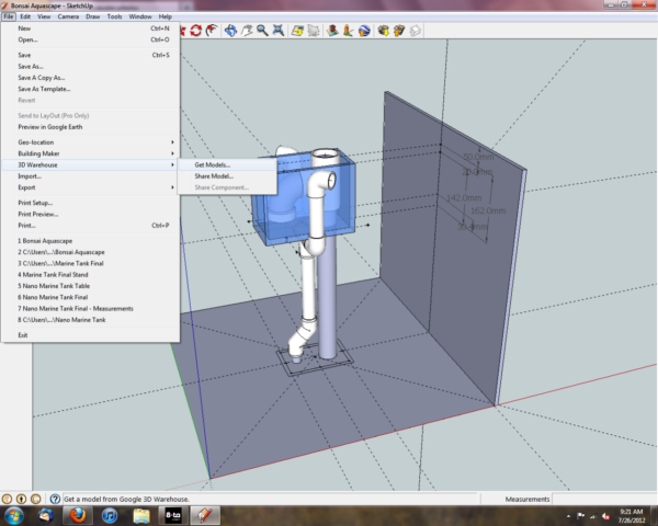 A Quick Google Sketchup 8 Toturial - PVC Pipe & Fittings